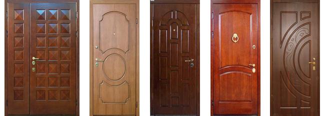 входные двери накладкой